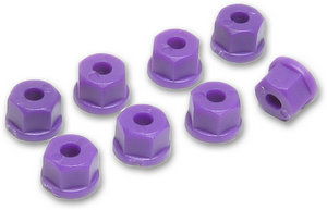 RPM 70808 - 4-40 or 3mm Nylon Nuts * Purple  * 8 pcs