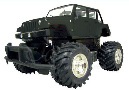Aoshima 07830 - RC 1:14 Jeep Wrangler Unlimited / Black
