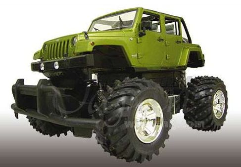 Aoshima 07831- RC 1:14 Jeep Wrangler Unlimited/ Green