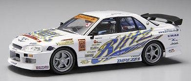 Aoshima 74411 - 1:43 Diecast D1 Grand Prix Memorials - #5 Blitz ER34 Skyline 4DR  2004