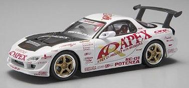 Aoshima 74435 - 1:43 Diecast D1 Grand Prix Memorials - #1 Mazda Apex D1 P/J FD3S / RX7 2003