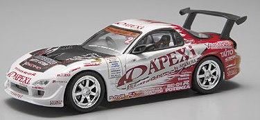 Aoshima 74442 - 1:43 Diecast D1 Grand Prix Memorials - #2 Mazda Apex D1 P/J FD3S / RX7 2005