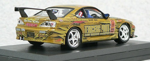 Aoshima 74480  - 1:43 Diecast D1 Grand Prix Memorials - #8 Top Secret S15 Silvia 2004