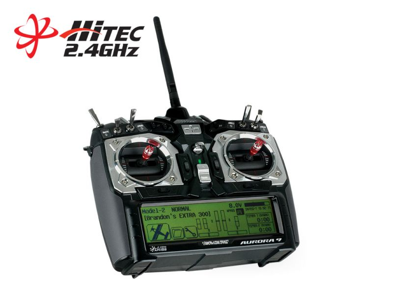 Hitec 191244 - Aurora 9 - 9 channel 2.4GHz Transmitter & 7ch Receiver