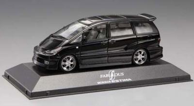 Aoshima 72684 - Toyota Estima, Black (1:43 Die-Cast )