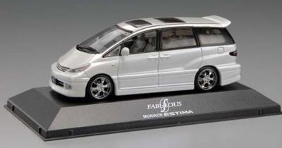 Aoshima 72677 - Toyota Estima, White (1:43 Die-Cast )