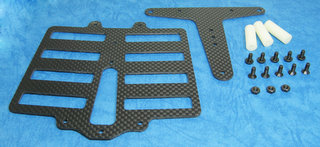 Big Wave TA-01 - Graphite Saddle Pack Battery Holder Kit (Tamiya F1)