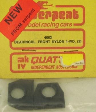 Serpent 4663 - Bearing Block, Front Nylon 4-WD (Quattro MK IV)