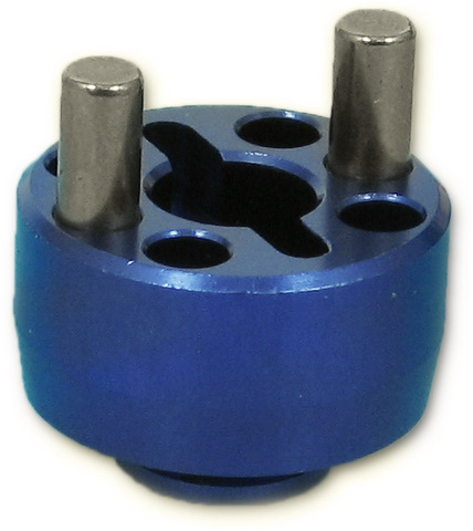 Five Stars FS-2013B - Alum Brake Disk Holder Blue (Kyosho V1R, V1S)