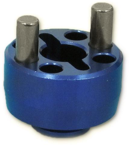 Five Stars FS-2013B - Alum Brake Disk Holder Blue (Kyosho V1R, V1S)