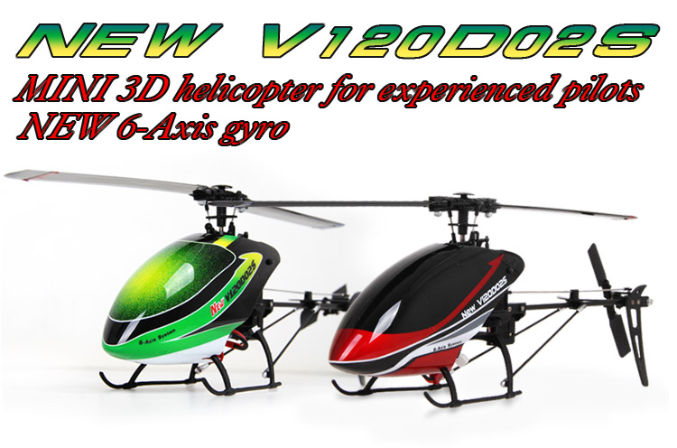 Walkera New V120D02S - RTF Mini 3D Helicopter, New 6-Axis Gyro / Devo 7