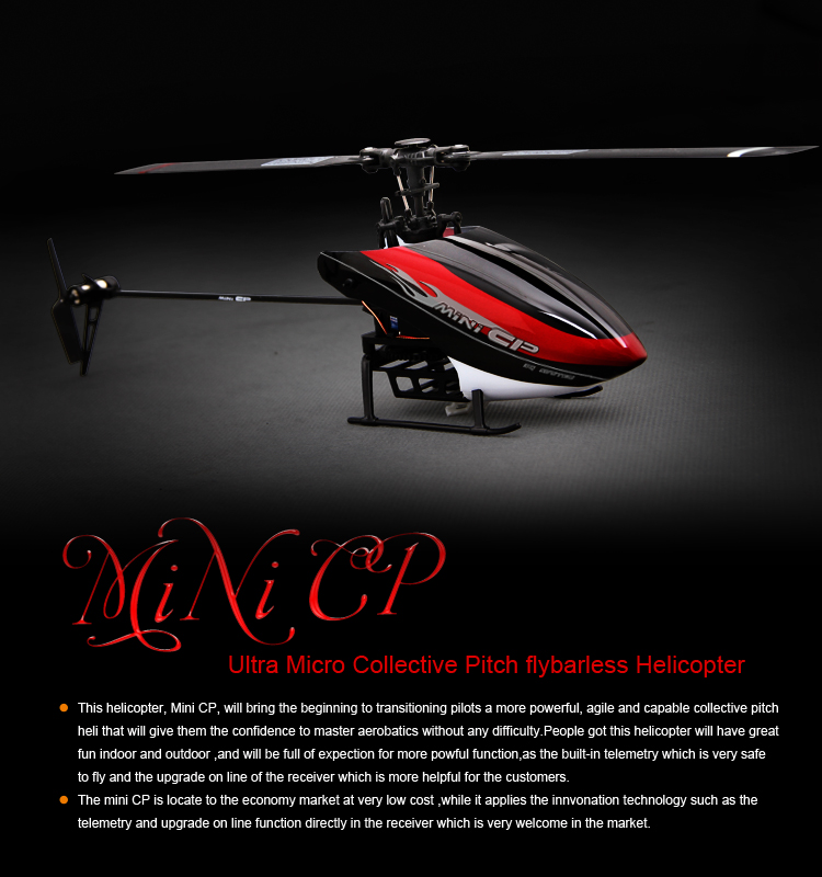 Walkera Mini CP - 3-Axis Flybarlss Helicopter Devo 7 RTF