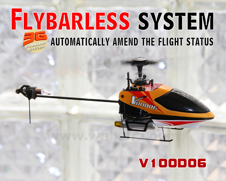 Walkera V100D06 - Flybarless Mini Heli 2.4G WK-2403 RTF