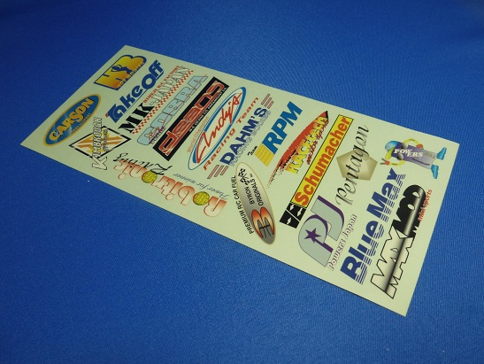 Powers PJ-D3 - World Sponsor Decal, 2 sheets