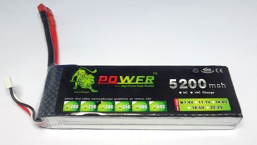 Power 2-5200-30C - LiPo Battery 7.4V 5200mAh 30C