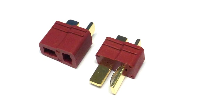 Jet Racing P-09R - T-Plug Red 1 pair