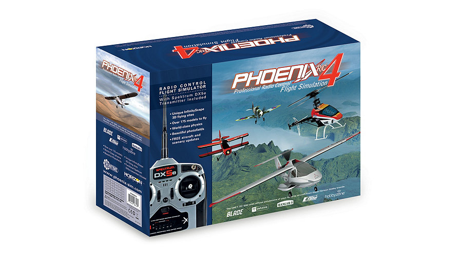 RunTime Games RTM40R55101 - Phoenix R/C Pro Simulator V4.0 w/Spektrum DX5e Mode 1