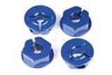 K-Factory K1251 - Alum Clamp Type Hex Wheel Hub 4pcs. Gunmetal (Asso. NTC3)