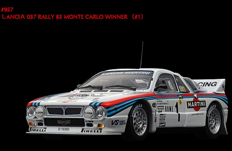 HPI 957 - 1:43 Die Cast - Lancia 037 RAlly #1 1983 Monte Carlo Winner