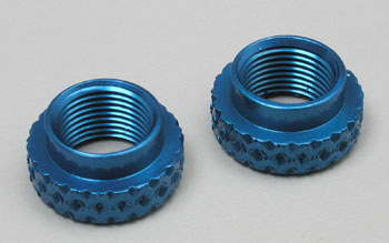 IRS 353BL - Adjustable Nut for the Associated VCS Micro Shock, Blue