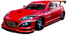 D-Like DL096 - 197mm Mazda RX-8 (Spirit R) Clear Body