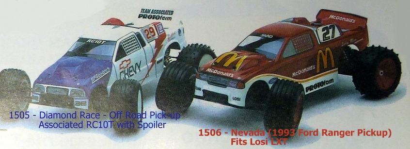 Protoform 1506 - Nevada (1993 Ford Ranger Pickup) Body Fits Team Losi LXT