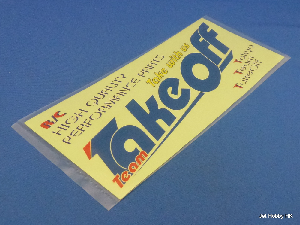 Take Off TOD-1 - Large Decal Team Take Off Decal 1pc-1types