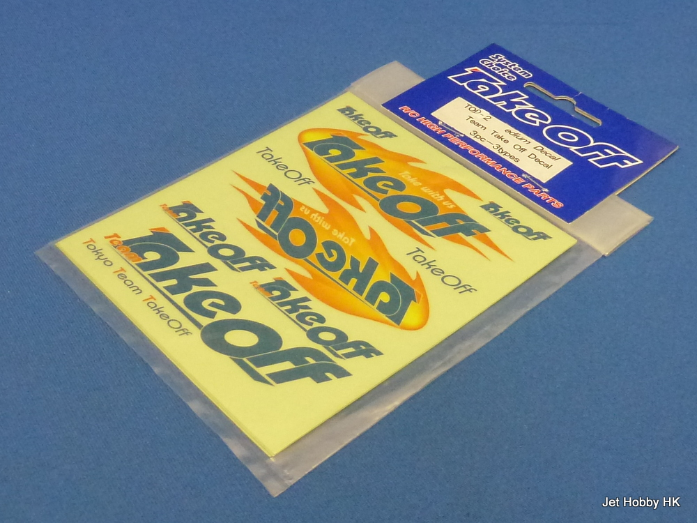 Take Off TOD-2 - Medium Decal Team Take Off Decal 3pcs 3-colors