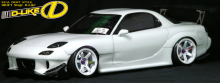 D-Like DL107 - 198mm Mazda RX-7 FD3S Clear Body, Wheelbase 260mm