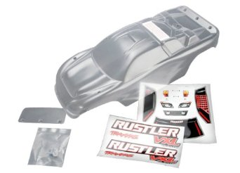 Traxxas 3714 - Body, Rustler Clear