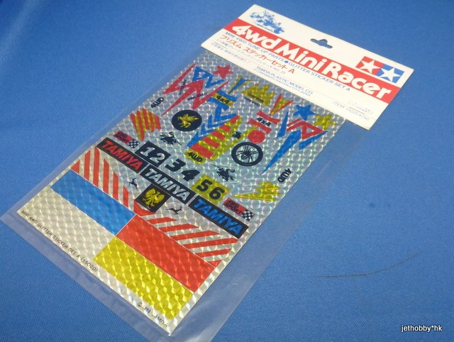 Tamiya 15020 - Mini 4WD Glitter Sticker Set A