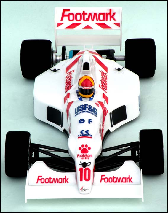 Chevron FSL030W - March 901 F1 Clear Body with White Wing (Tamiya F103, F104W)