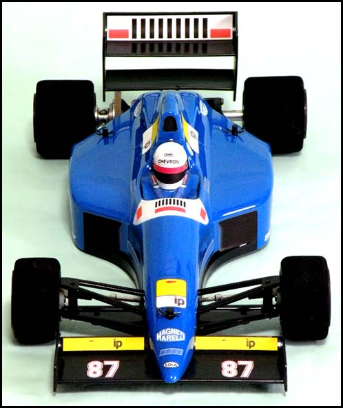 Chevron FSL035B - Lola L90 F1 Clear Body with Black Wing (Tamiya F103, F104W)