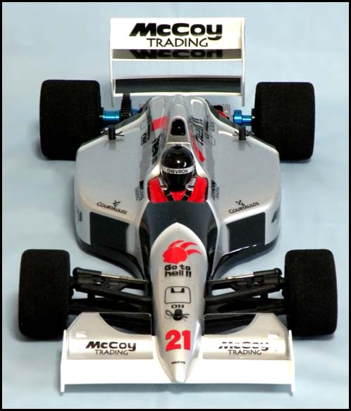 Chevron FSL035W - Lola L90 F1 Clear Body with White Wing 2 (Tamiya F103, F104W)