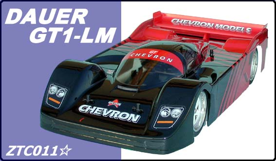 Chevron ZTC011 - Dauer GT1-LM Clear Body (Tamiya F102, F103, F103GT, F104W)