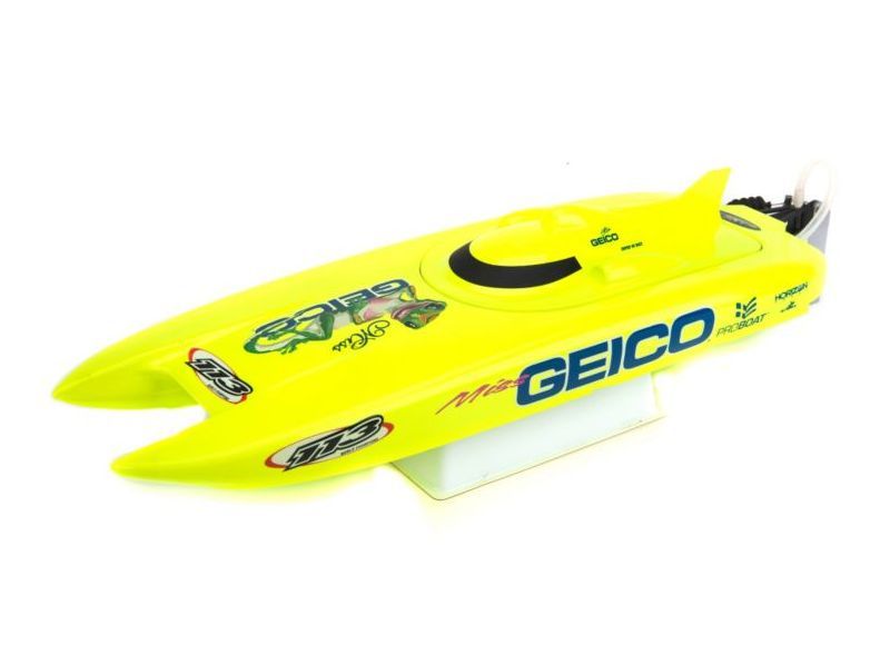 ProBoat PRB08019 - Miss Geico 17-inch Catamaran Brushed: RTR