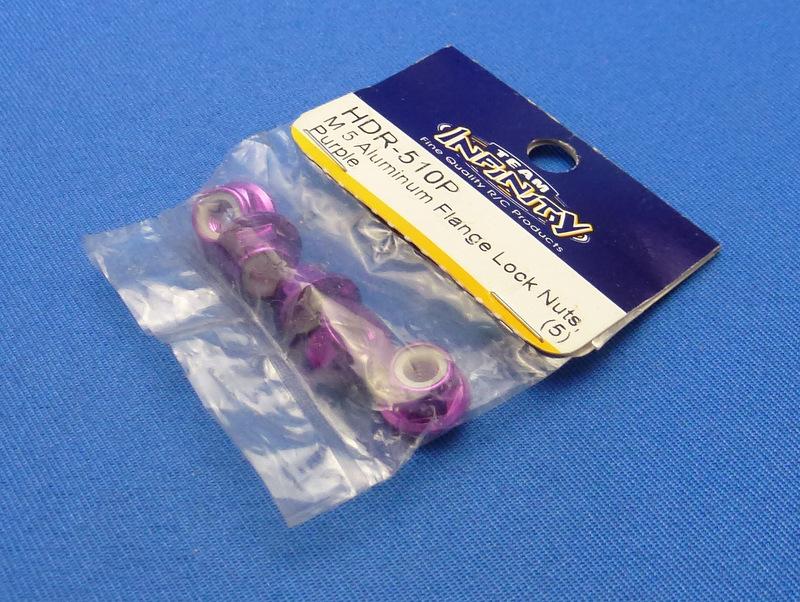 Team Infinity HDR-510P - M5 Aluminum Flange Lock Nuts, Purple