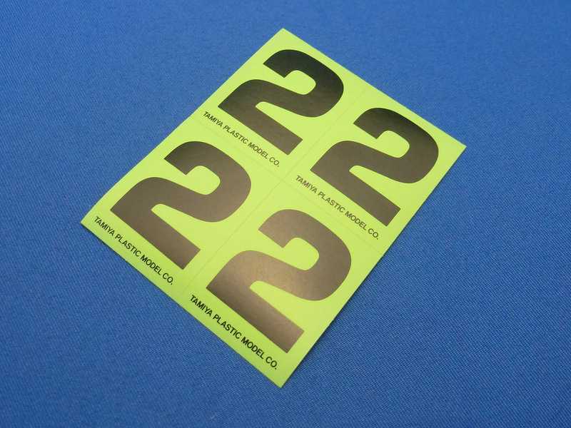 Tamiya 66542 - Number Sticker #2
