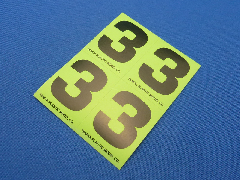 Tamiya 66543 - Number Sticker #3