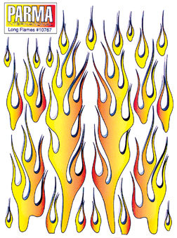 Parma  10767 - Long Flames 6x8 inches Decal