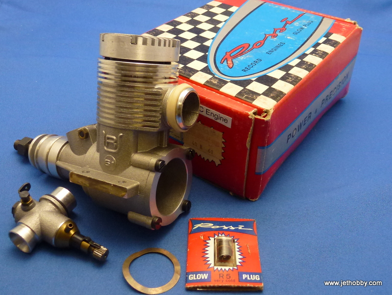 Rossi 40R61 - R61 3+2 F1 RC ABC Helicopter Engine 10cc Rear Exhaust