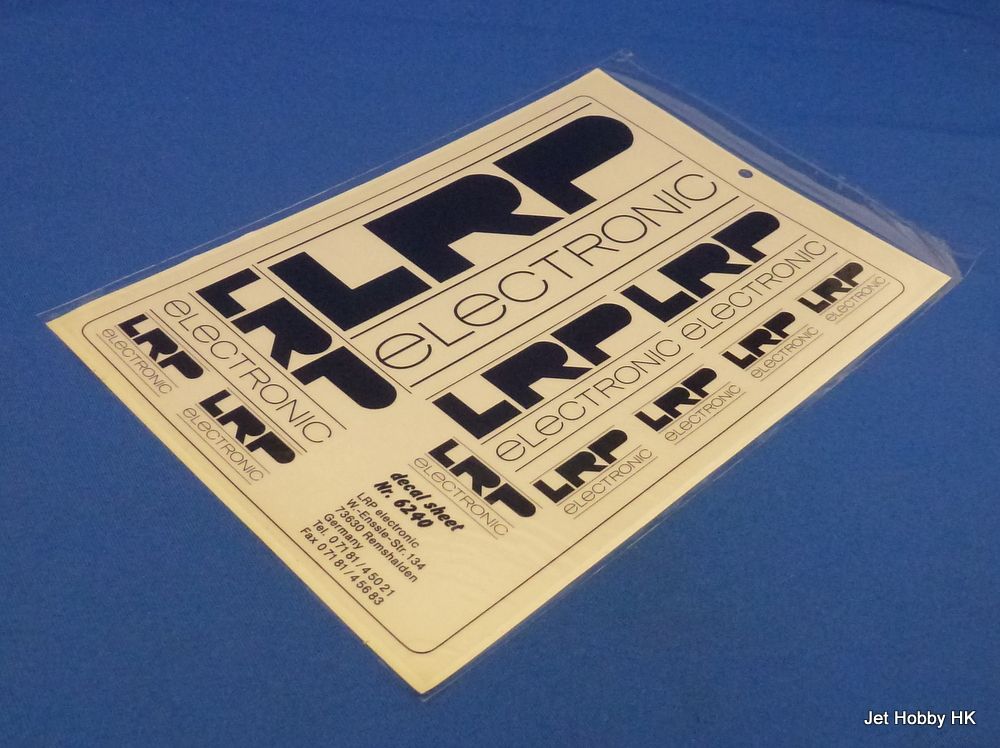 LRP Decal - LRP Logo Decal Black 14x21.5cm