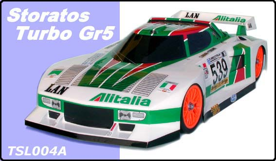 Chevron TSL004A - 201mm Stratos Turbo Gr5 Clear Body