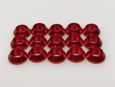 Q-World Q-313R - 3mm Alum Washer for Cap Screw Red