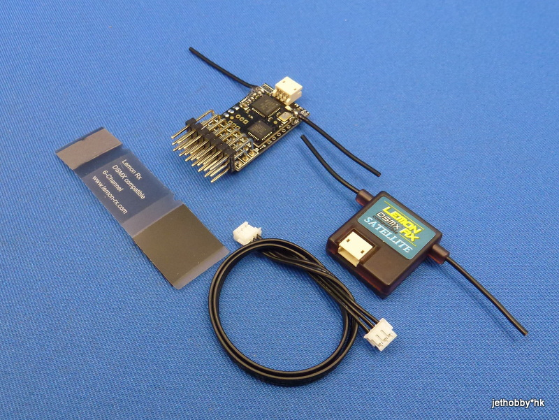 Lemon LM0028 - DSMX 6-Channel Receiver + Satellite (End Pin)
