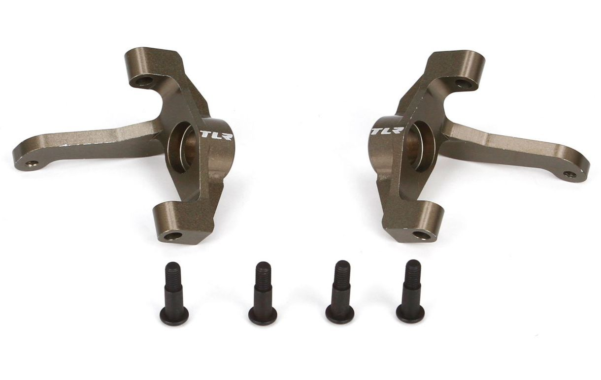 TLR 334007 - Front Spindle Set, Aluminum (22-4)