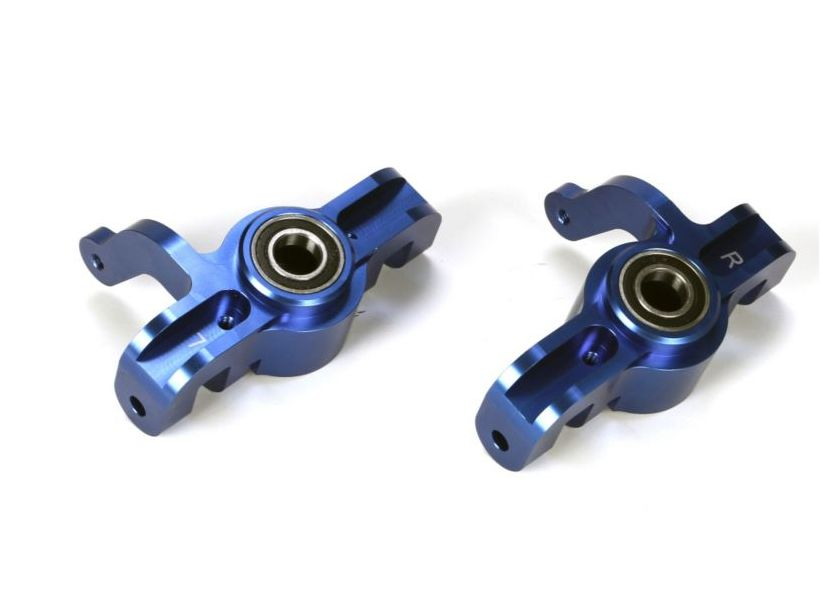 Losi LOSB2091 - Alum Front Spindle Set w/BB, Blue (5IVE-T, MINI WRC)