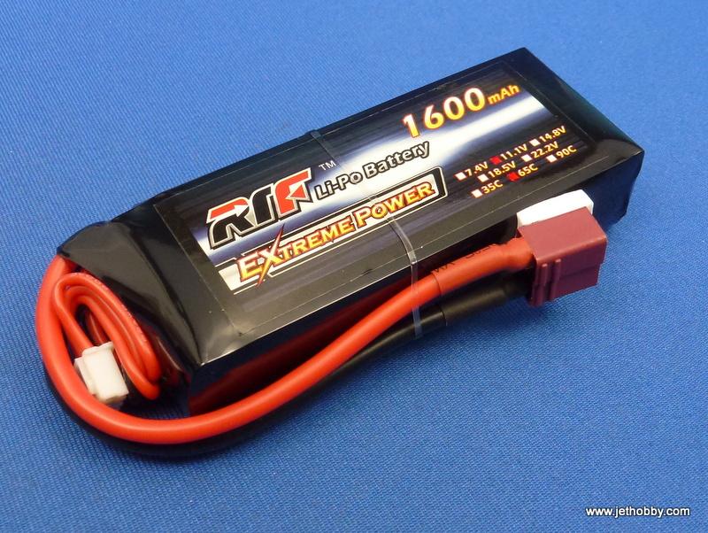 RTF 1600-3S-65C-T - Lipo Battery 1600mAh 11.1V 65C T-Plug