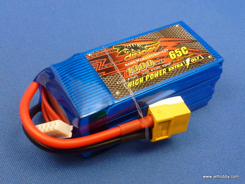 Dinogy 1300-4S-65C-XT60 - Lipo Battery 1300mAh