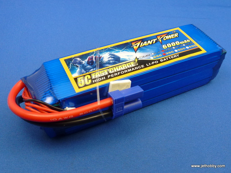 Giant Power 6000-4S-35C-EC5 - Lipo Battery 6000mAh 14.8v  35C EC5